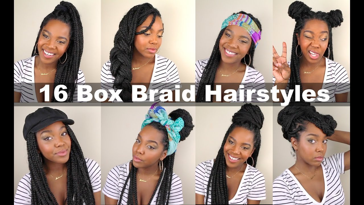 New 16 Box Braid Hairstyles Quick Easy Natural Hair Ideas With Pictures