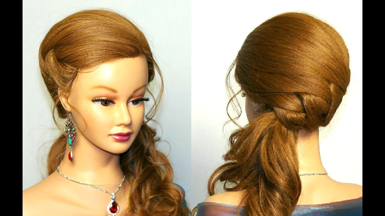 New Wedding Prom Hairstyle For Long Hair Tutorial Youtube Ideas With Pictures