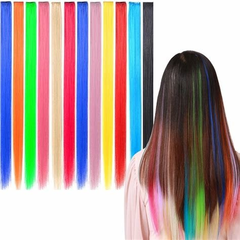New Amazon Com 6 X Colored Clip On In Hair Extensions Beauty Ideas With Pictures