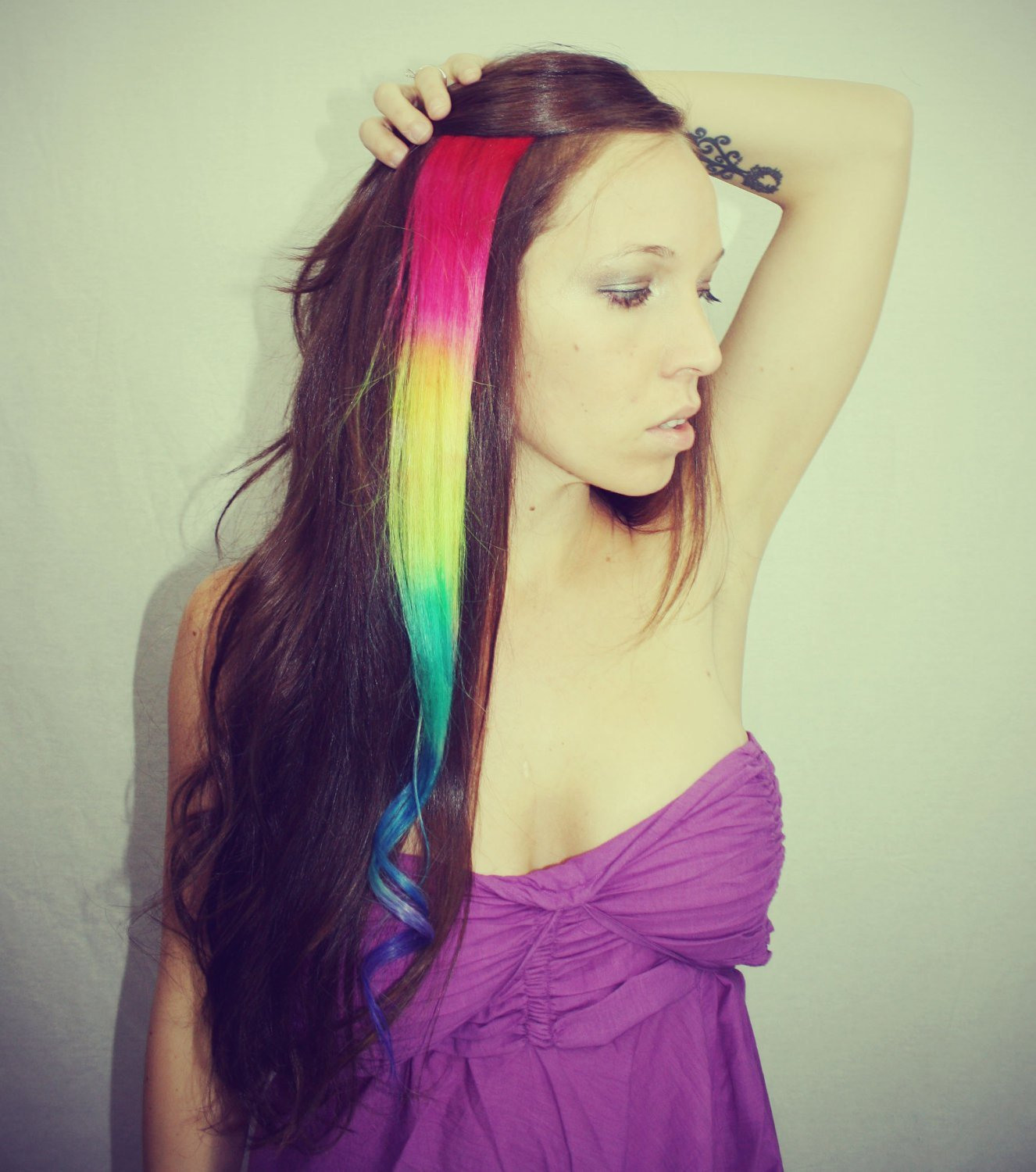 New Rainbow Human Hair Extensions Colored Hair By Cloud9Jewels Ideas With Pictures