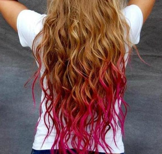New Items Similar To Temporary Hair Colored Chalk Dip Dye Ideas With Pictures