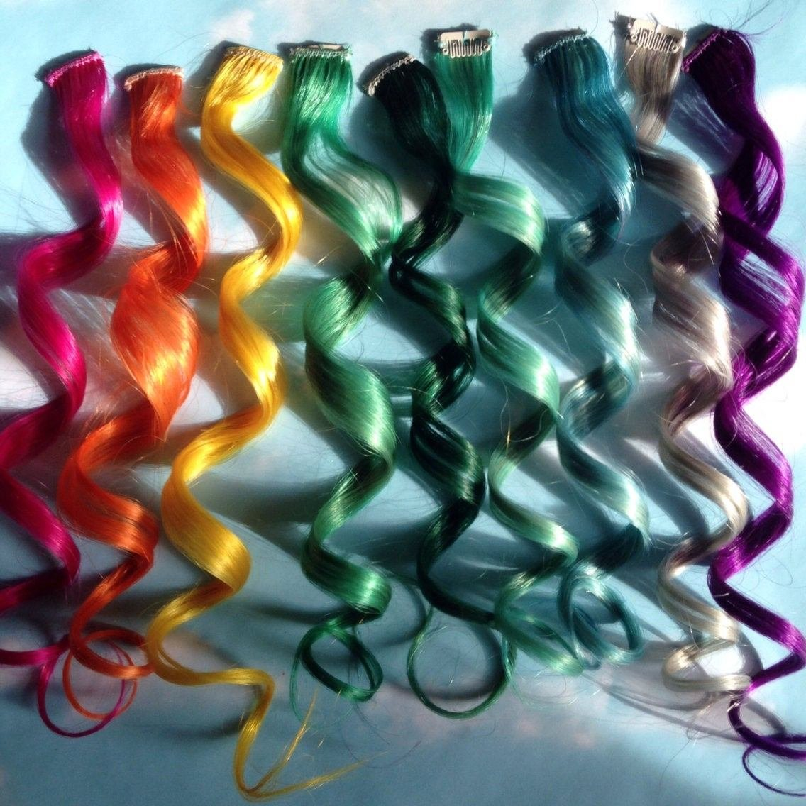 New Rainbow Human Hair Extensions Colored Hair Extension Clip Ideas With Pictures