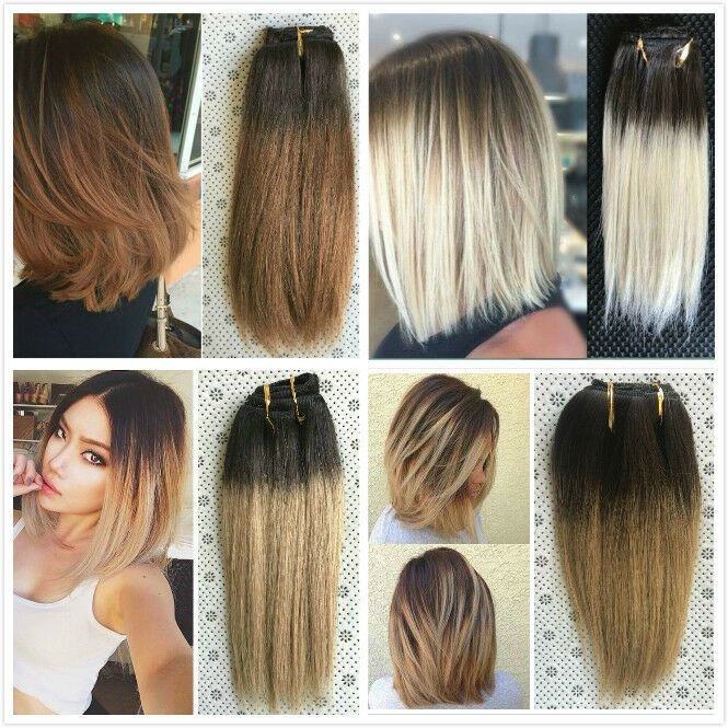 New 10 Straight Short Full Head Clip In Human Hair Extensions Ideas With Pictures