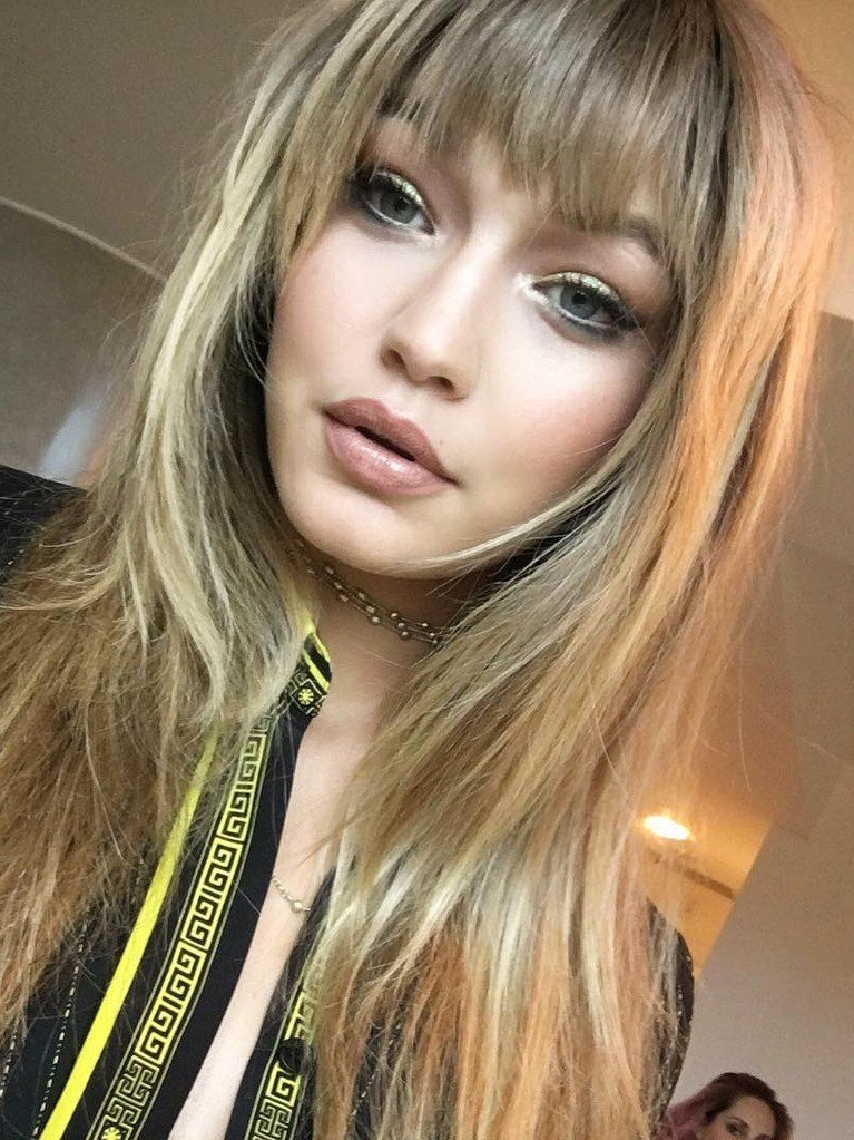 New Gigi Hadid Cut Her Own Bangs For Her First Campaign Allure Ideas With Pictures