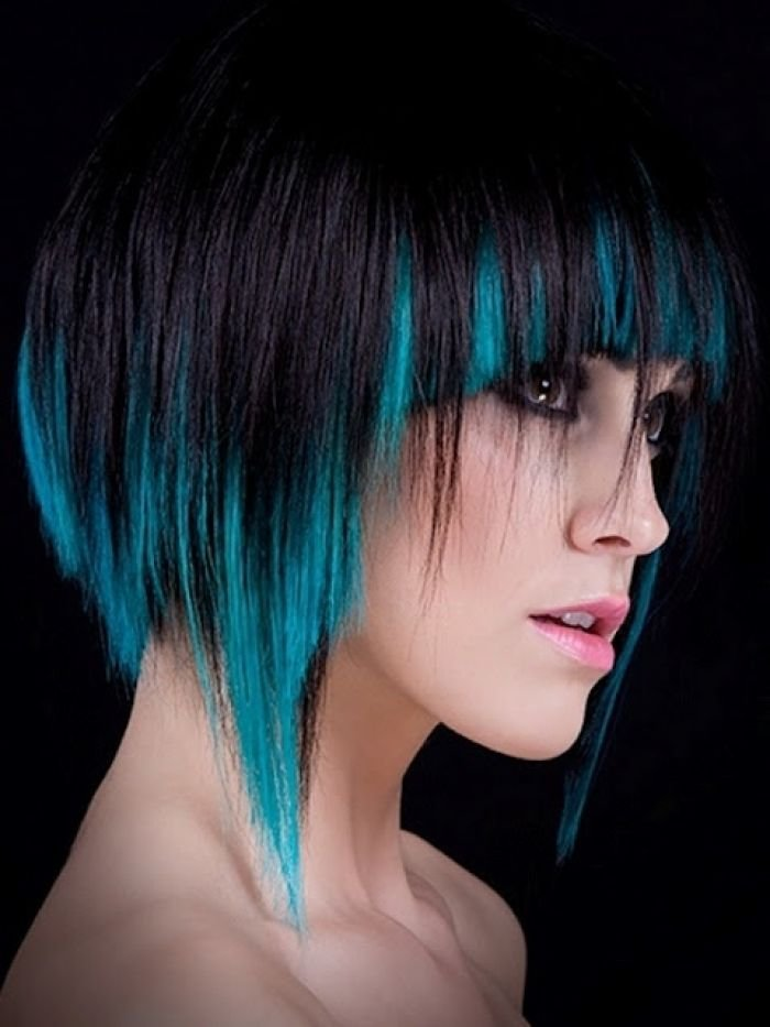 New Short Hair Colored Tips Creative Hair Makeup Beauty Ideas With Pictures