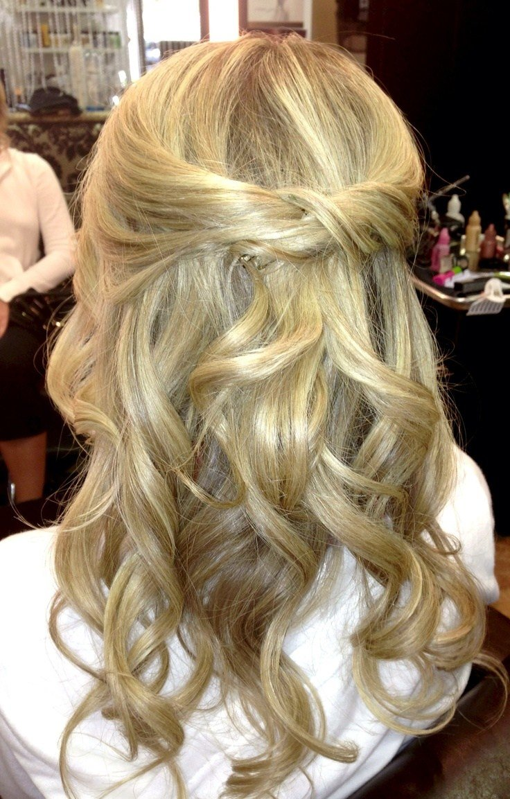 New Half Up Half Down Loose Curls Www Veilofgrace Com Bridal Ideas With Pictures