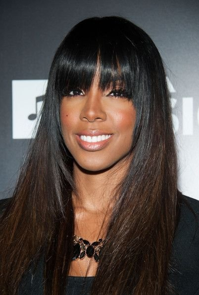 New Kelly Rowland Full Sew In Weave With Fringe Hair Styles Ideas With Pictures