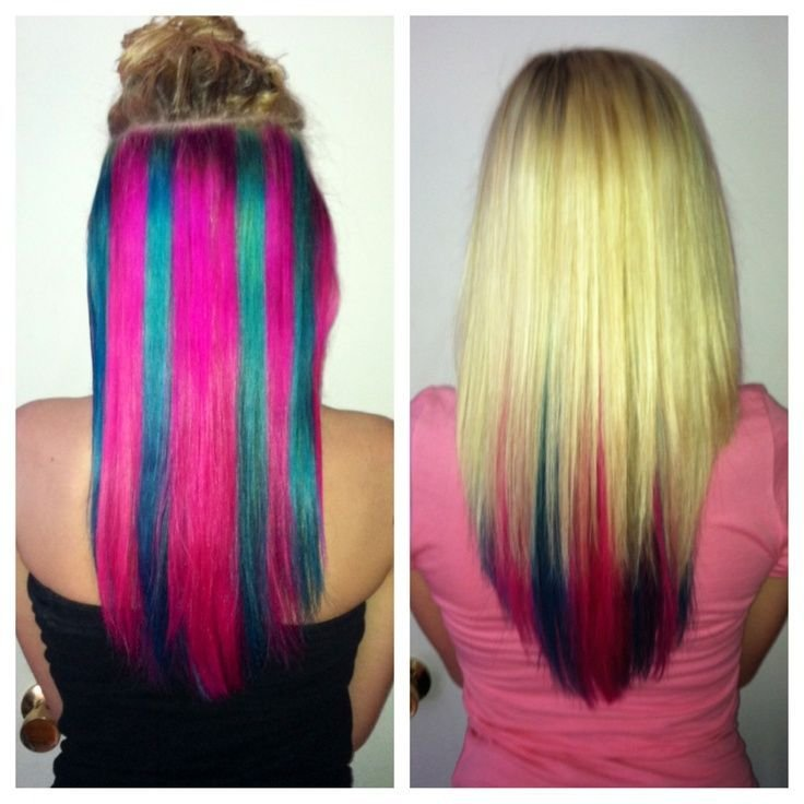 New Blonde Hair With Blue Pink Underneath Get This Look Ideas With Pictures