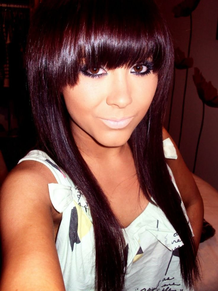 New Dark Brown Violet Hair Color Think I Look Asian Here S Ideas With Pictures