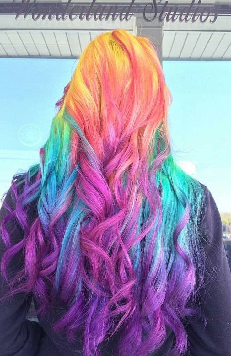 New 25 Best Ideas About Rainbow Dyed Hair On Pinterest Ideas With Pictures