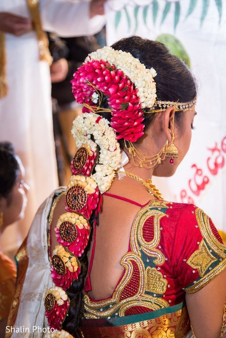New 79 Best Images About South Indian Bridal Hairstyle On Pinterest Traditional Jasmine And Big Day Ideas With Pictures