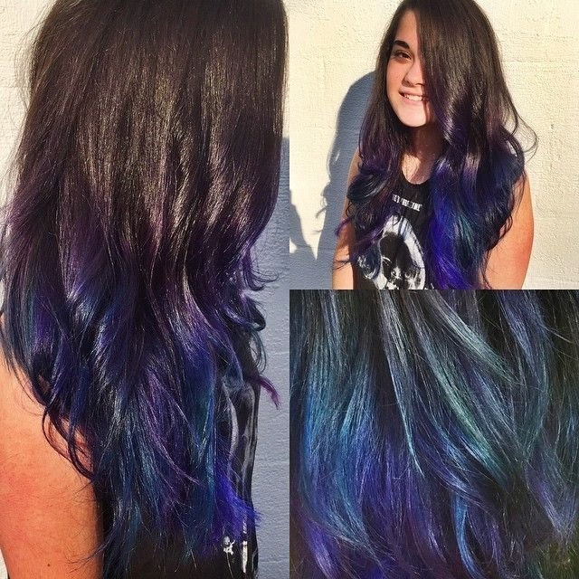 New I Love Mixing Colors Together To Create A Dimensional Effect This Purple And Blue Ombre Reminds Ideas With Pictures
