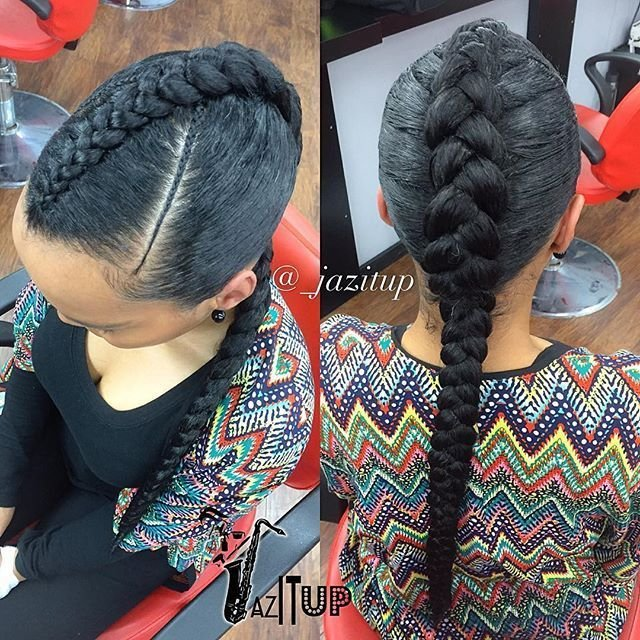 New Cute And Simple ☺️ One Large Feed In Braid Jazituphair Jazitupbraids Call And… Hair Options Ideas With Pictures Original 1024 x 768