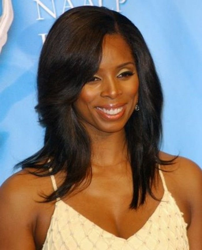 New Straight Long Hair With Side Bangs African American Ideas With Pictures
