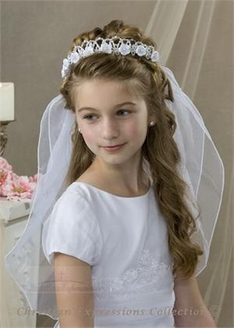 New First Communion Hairstyles Long Hair Dani S First Ideas With Pictures