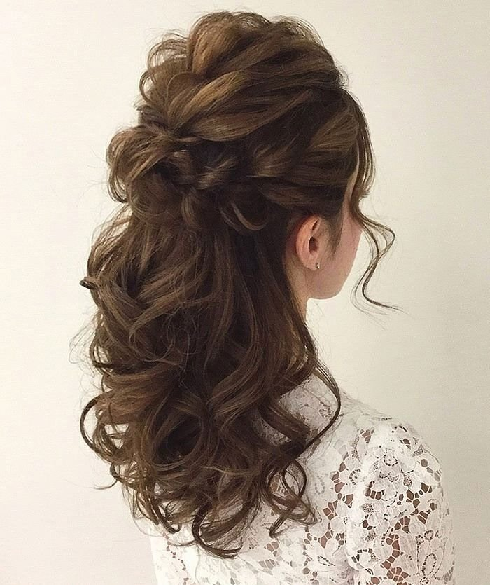 New Gorgeous Half Up Half Down Hairstyles Curly Hairstyles Ideas With Pictures