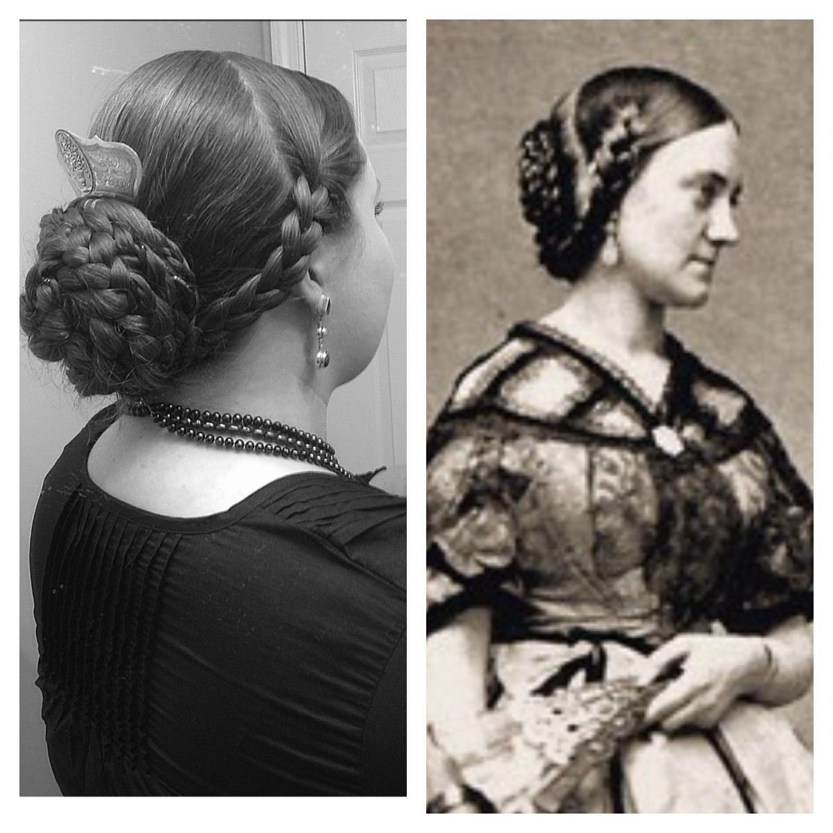 New Godey S Ladies Hair Style 1860 S Modern Version On The Ideas With Pictures