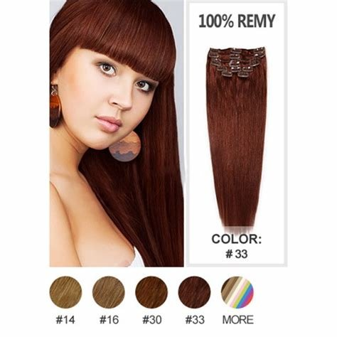 New Indian V*Rg*N Hair Clip In Extensions Dark Auburn Color 33 Ideas With Pictures