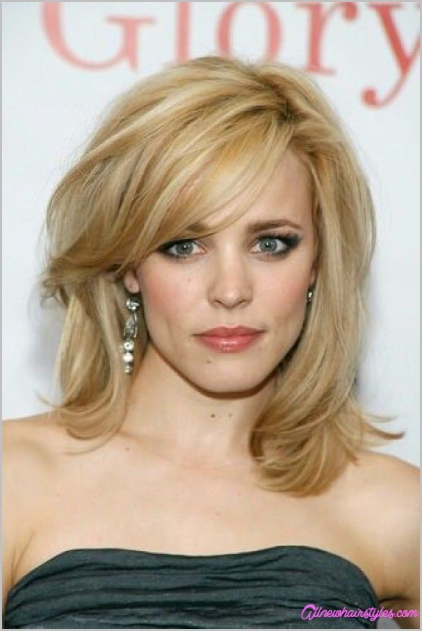 New Medium Length Haircuts With Side Swept Bangs And Layers Ideas With Pictures