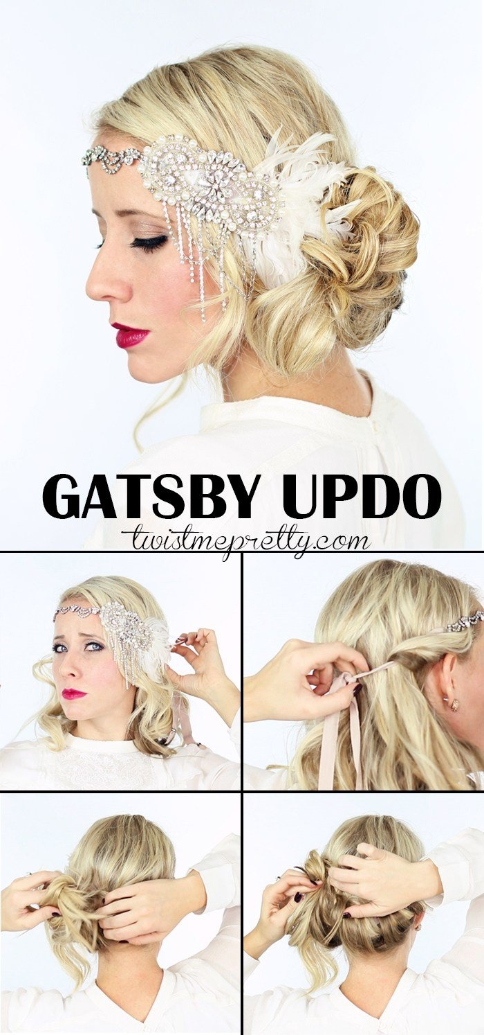 New 2 Gorgeous Gatsby Hairstyles For Halloween Or A Wedding Twist Me Pretty Ideas With Pictures