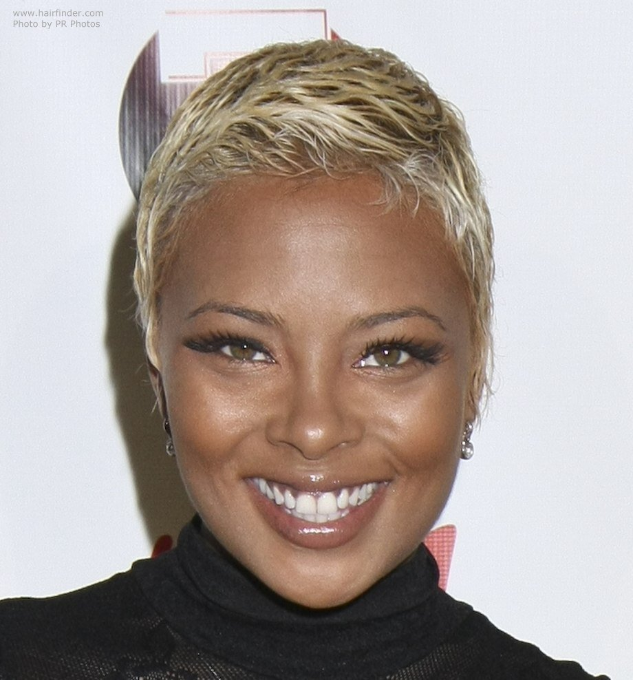 New Eva Marcille S Boy Cut Very Short Bleached Hair That Is Ideas With Pictures