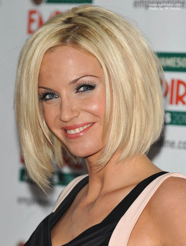 New Sarah Harding Bob Haircut With Sides That Fall Under The Ideas With Pictures