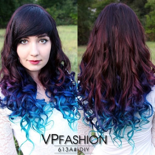 New Hair Trends 2015 10 Hottest Blue Dip Dye Hair Colors For Ideas With Pictures