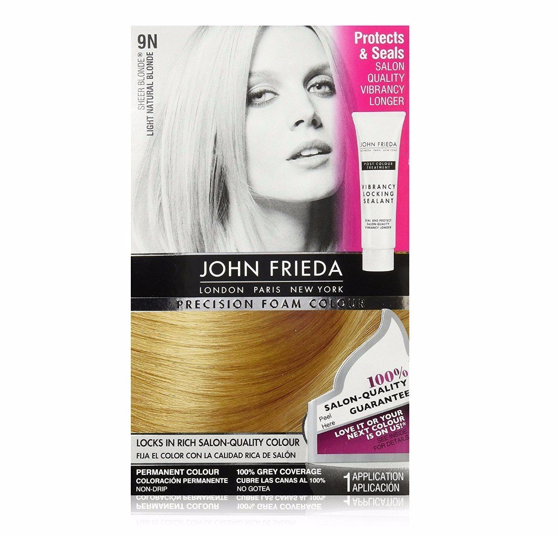 New John Frieda Precision Foam Color Light Natural Blonde 9N Ideas With Pictures
