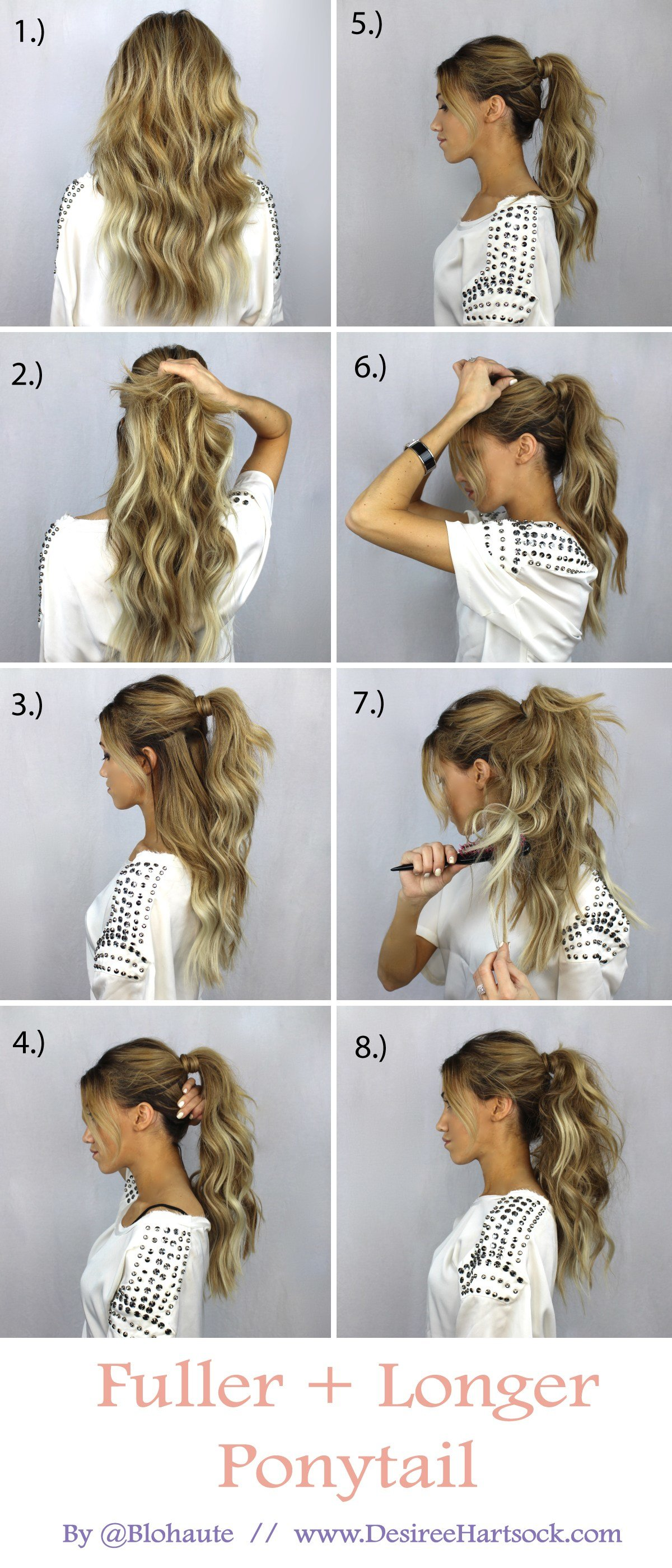 New Create A Fuller And Longer Ponytail In These Easy Steps Ideas With Pictures