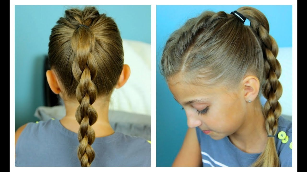 New Single Frenchback Into 3D Round Braid Easy Hairstyles Ideas With Pictures