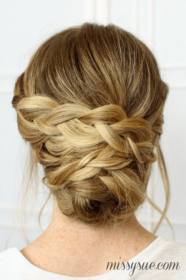 New Soft Braided Updo Ideas With Pictures