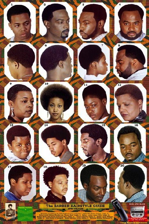 New Black Barber Hairstyle Guide Poster Hairstyles By Unixcode Ideas With Pictures Original 1024 x 768