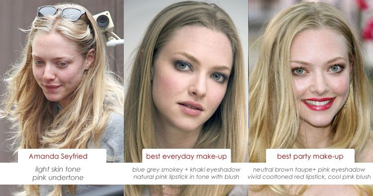 New Make Up Charts Amanda Seyfried And Her Skin S Pink Undertone Ideas With Pictures