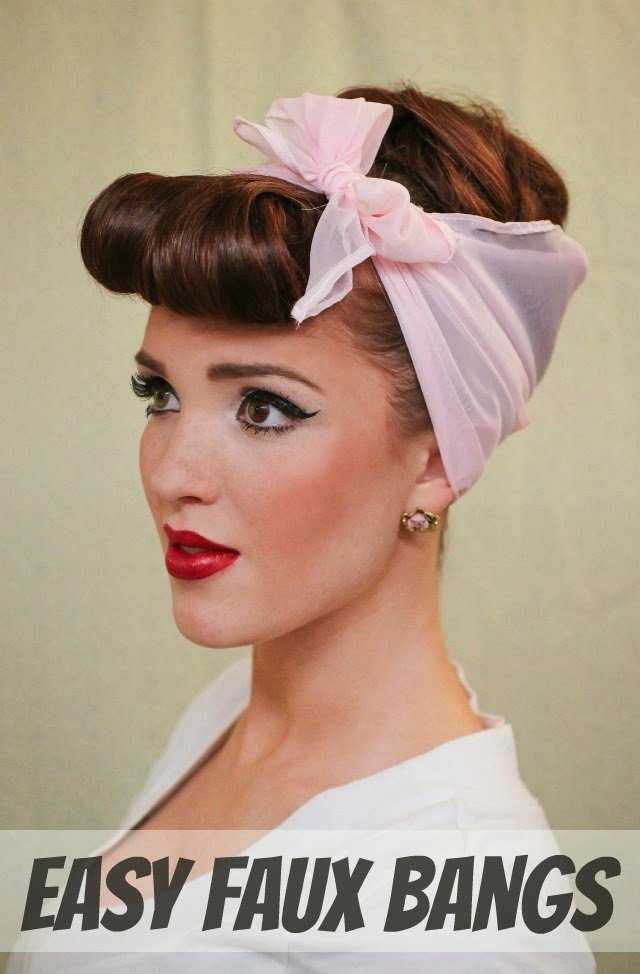 New The Freckled Fox Modern Pin Up Week 4 Easy Faux Bangs Ideas With Pictures