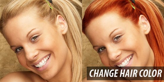 New Hairstyle Photo Change Hair Color Online Ideas With Pictures