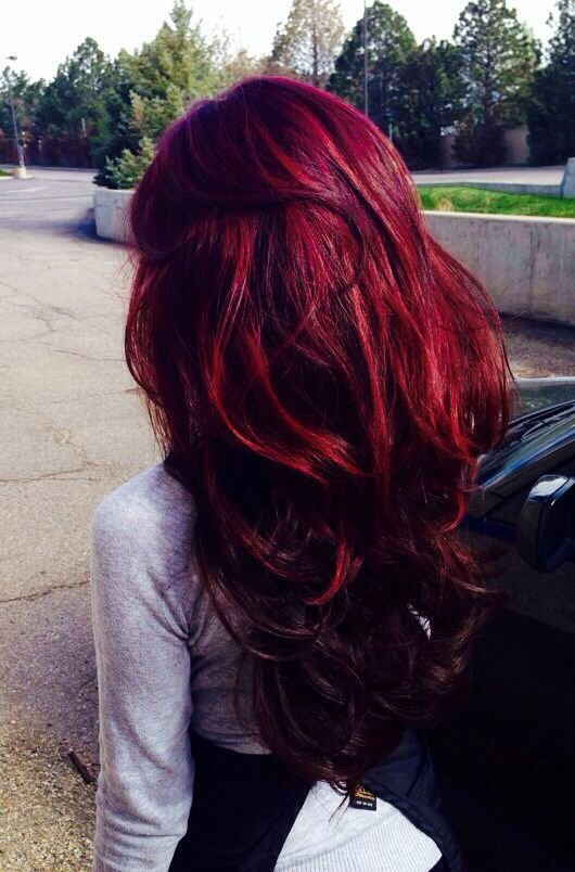 New Long Hair In Crazy Color Bordeaux Hair Colors Ideas Ideas With Pictures