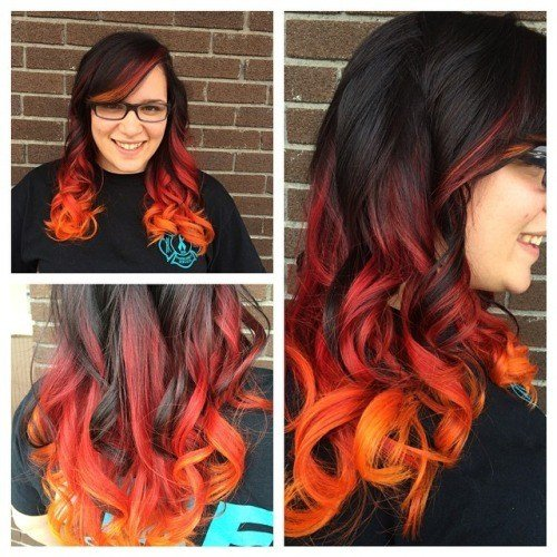 New Brown To Orange Ombre Hair Colors Ideas Ideas With Pictures