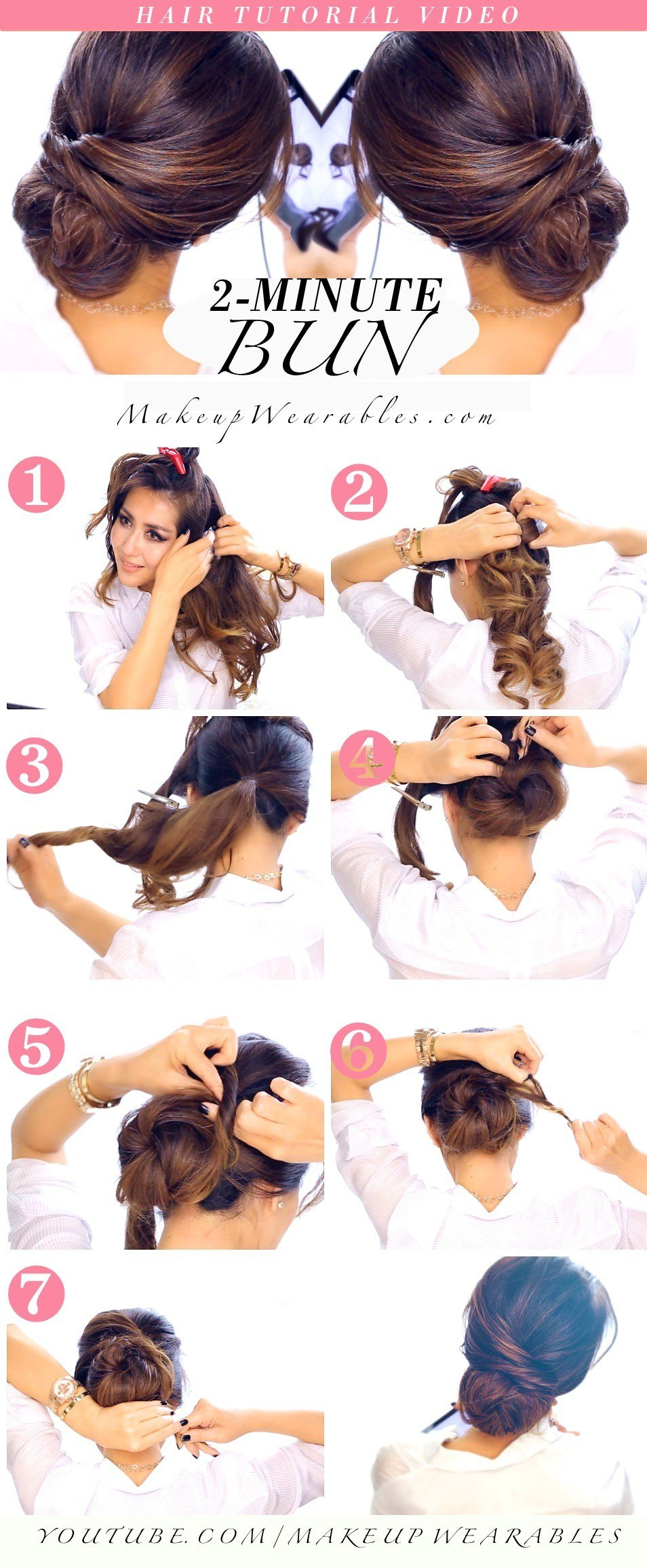 New Quick Easy Bun Hairstyle Tutorial Ideas With Pictures