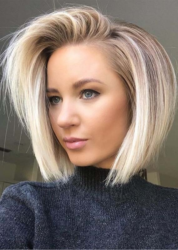 New Modern Side Swept Blonde Bob Hairstyles For 2019 Modeshack Ideas With Pictures