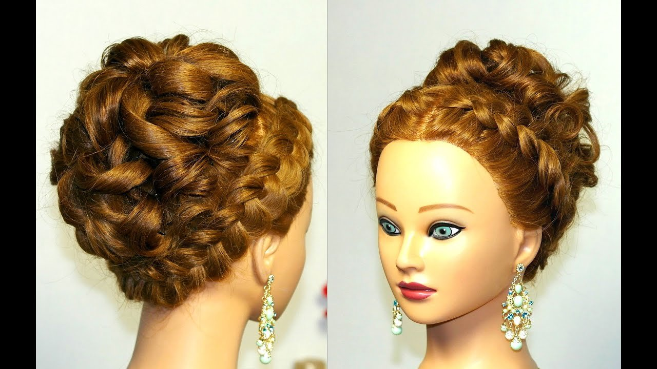 New Wedding Prom Hairstyle For Long Hair With French Braid Ideas With Pictures