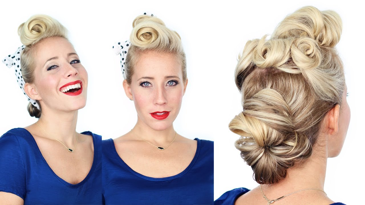 New 1940 S Pin Up Girl Hairstyle Youtube Ideas With Pictures