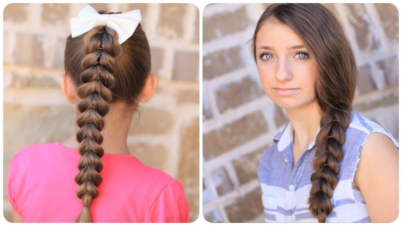 New How To Create A Pull Through Braid Easy Braided Ideas With Pictures
