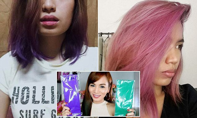 New How To Dye Your Hair Using Crepe Paper Daily Mail Online Ideas With Pictures