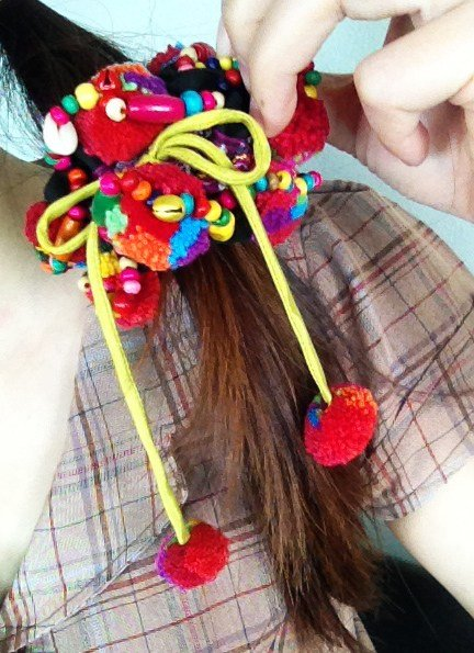 New Ponytail Holder Colorful Hair Accessories With Pretty Pom Ideas With Pictures