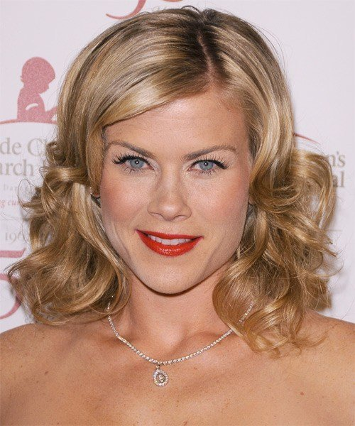 New Alison Sweeney Medium Wavy Formal Hairstyle Dark Blonde Hair Color With Light Blonde Highlights Ideas With Pictures