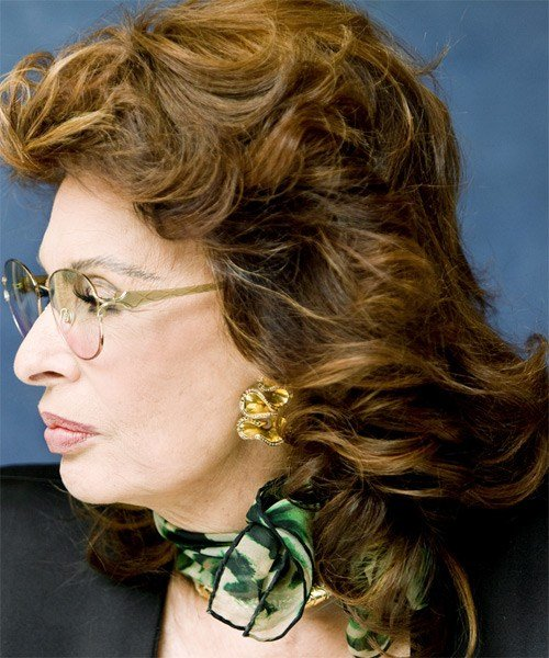 New Sophia Loren Medium Wavy Formal Hairstyle Ideas With Pictures