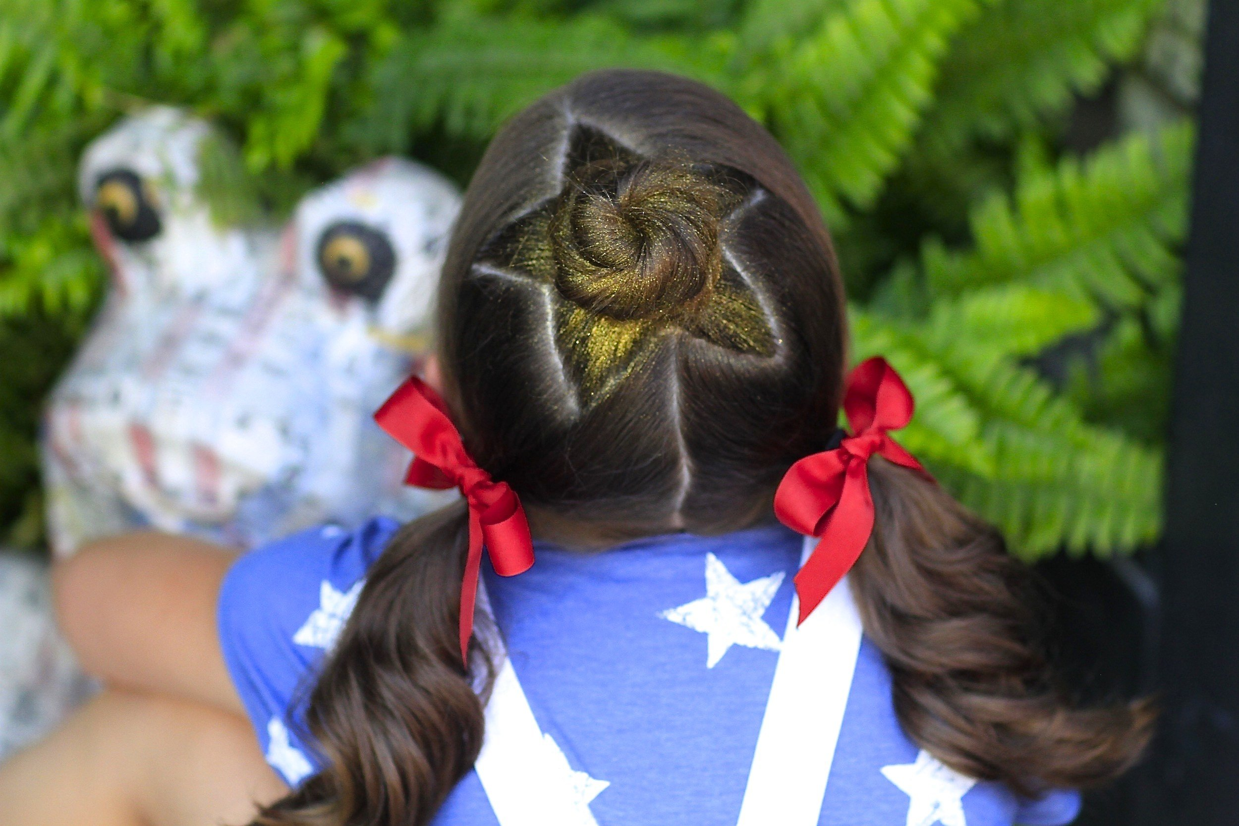 New The Star Bun Combo 4Th Of July Hairstyles Cute Girls Ideas With Pictures