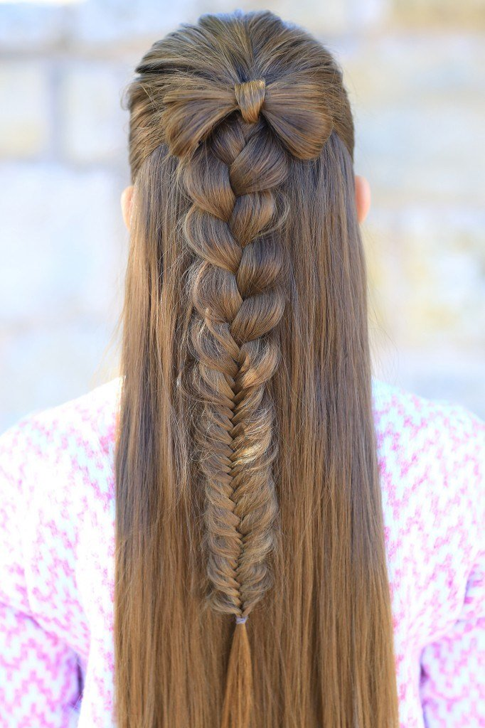 New Half Up Bow Combo Cute Girls Hairstyles Ideas With Pictures