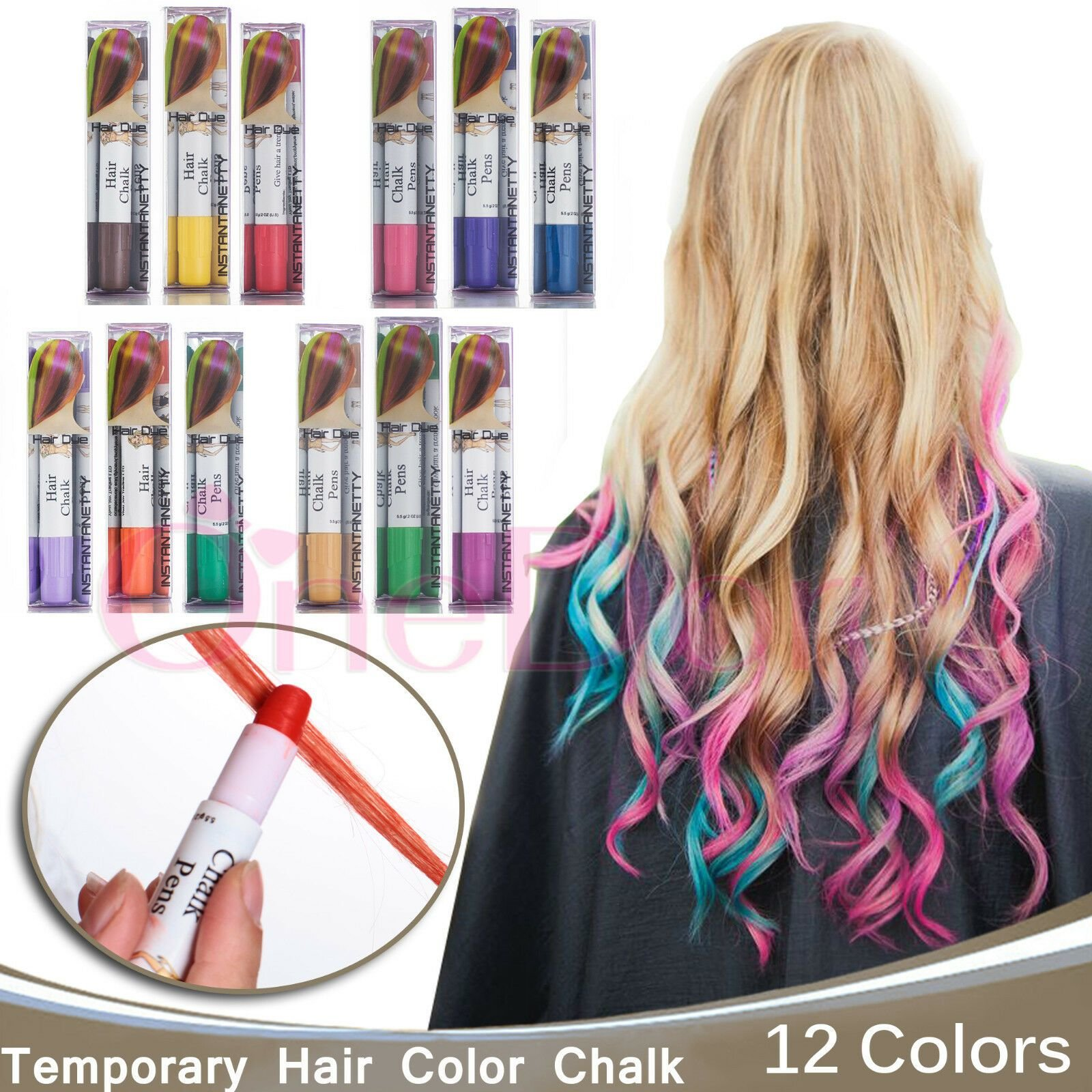 New Professional Temporary Hair Dye Hair Color Chalk Pens Ideas With Pictures