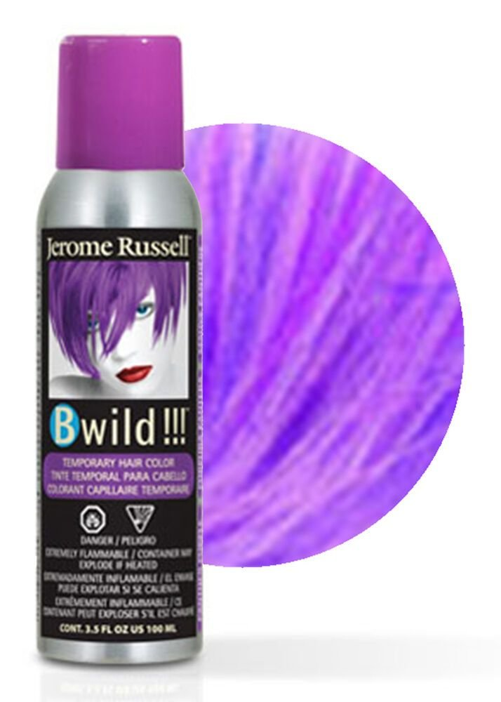 New Jerome Russell B Wild Temporary Hair Color Spray 100Ml Panther Purple Ebay Ideas With Pictures